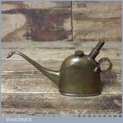 Vintage Jos Lucas No: 40 brass Teapot Style Oil Can - Good Condition