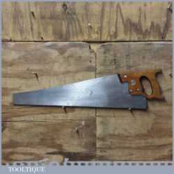 "Vintage Disston Canada 24"" Cross Cut Handsaw With 6 TPI - Sharpened"