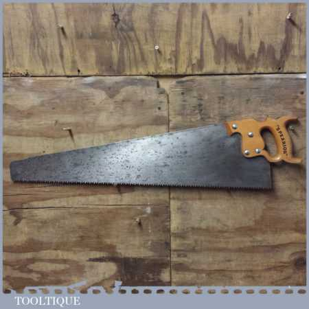 """Vintage Spear & Jackson Spearior 28"""" Rip Saw With 4 TPI - Sharpened"""