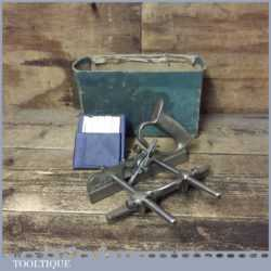 Vintage Boxed Record No: 044 Plough Plane 8 Cutters - Fully Refurbished