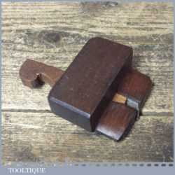 Vintage Luthiers Instrument Maker's Miniature Mahogany Side Rabbet Plane
