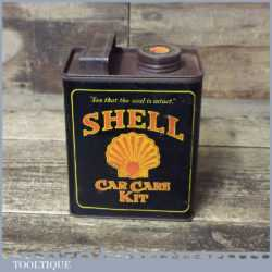 Small Vintage Shell Mex Replica Oil Can For Car Care Kit - Good Condition