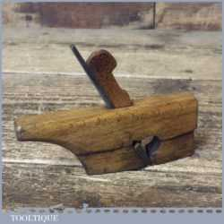 Vintage Luthier's Handled Miniature Beechwood Rounded Rabbet Plane