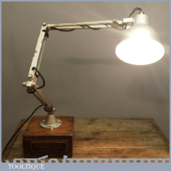 Vintage Mid 20th Century Industrial Machinists Anglepoise Steel Lamp