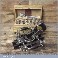 Vintage Stanley No: 55 Combination Plough Plane Complete - Fully Refurbished