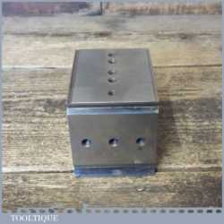 Vintage Quality Engineers Steel Block - Side V Channels Threaded Holes