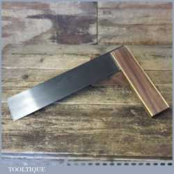 """Vintage Robert Sorby 12"""" Rosewood Brass Gilt Edge Try Square - Good Condition"""