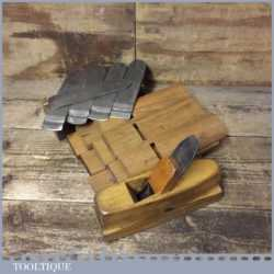Vintage Pattern Makers Smoothing Plane With 10 No: Interchangeable Soles Blades