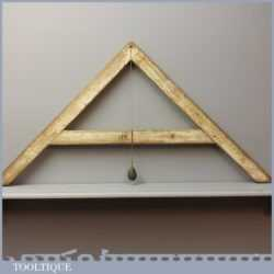 Vintage A frame Level With Lead Plumb Bob - Nice Patination