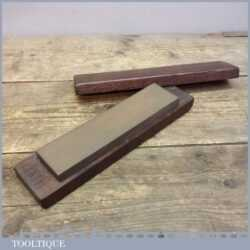 Old Vintage Medium Grit Honing Sharpening Oil Stone In A Wooden Box