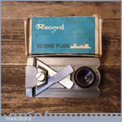 Vintage Boxed Record No: 2506 Side Rabbet Plane - Good Condition