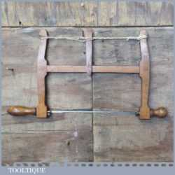 Vintage W. Marples & Sons Beechwood Bow Saw - Good Condition