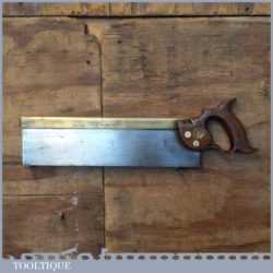 """Antique 14"""" Mawle C 1893-1914 Brass Back Tenon Saw - Sharpened"""