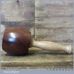 Handmade Old Azobé Ekki Hardwood Woodcarver's Mallet - Oak Handle