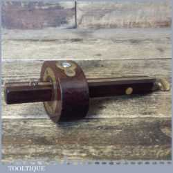 Vintage I Sorby Rosewood Brass Mortise Gauge With Smooth Action