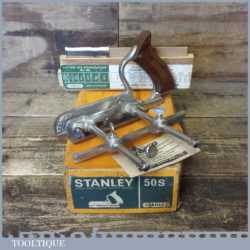 Vintage Boxed Stanley No: 50s Combination Plough Plane - Fully Refurbished