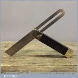 Vintage Ebony And Brass Carpenters Bevel In Good Condition