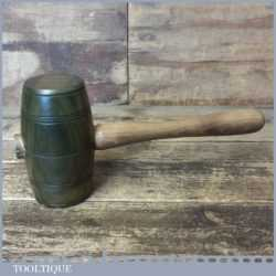 Handmade Saddler's Leatherworking Lignum Vitae Punching Mallet Beech Handle