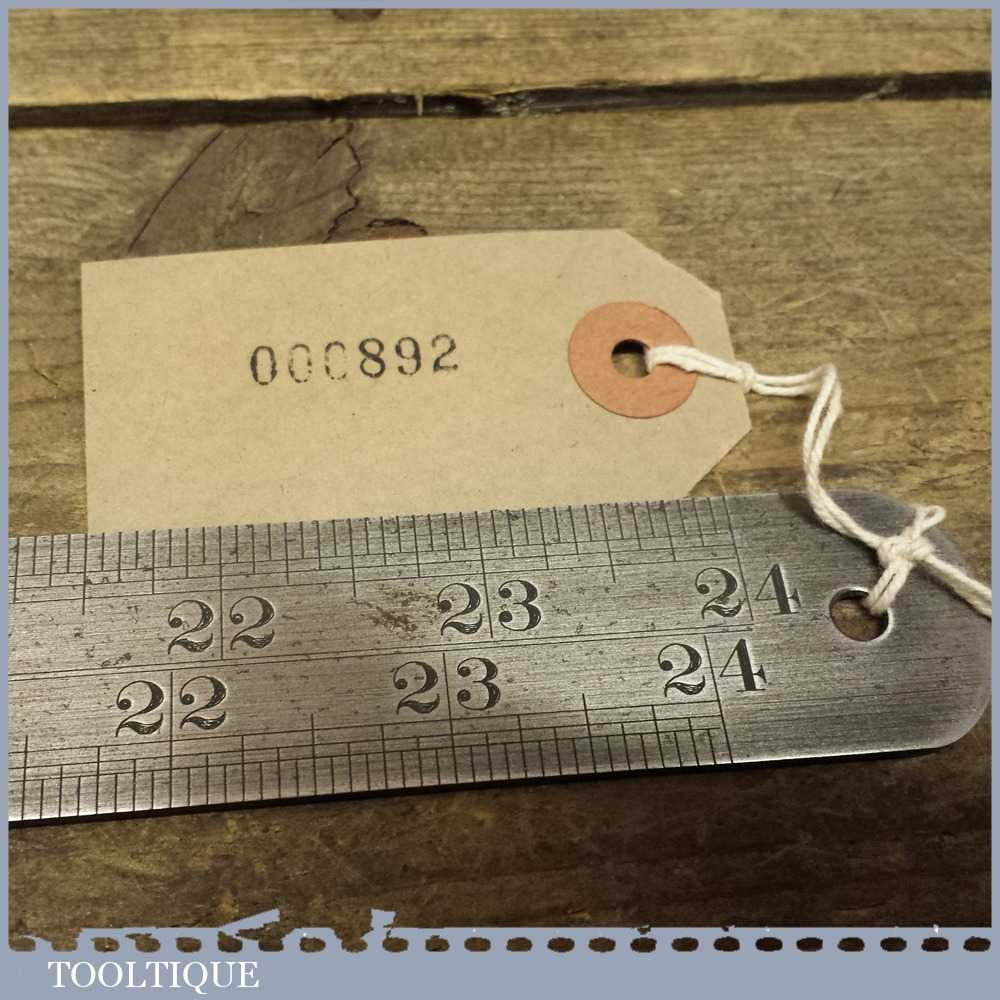"""Vintage Rabone and Sons Imperial 24"""" Steel Expansion Ruler for Iron No: 23"""