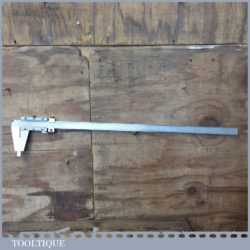 "Vintage Large 30"" Mitutoyo Fine Jaw Metric & Imperial Vernier Caliper - Good Condition"