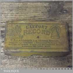 "Vintage Boxed 4""x 2""x ¾"" Record Lapport Combination Oil Stone - Lapped Flat"