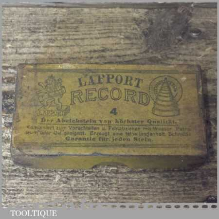 """Vintage Boxed 4""""x 2""""x ¾"""" Record Lapport Combination Oil Stone - Lapped Flat"""