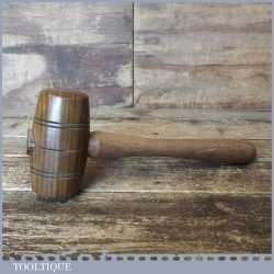 Handmade Saddler's Leatherworking Lignum Vitae Round Faced Punching Mallet