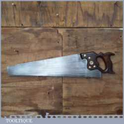 "Rare Vintage Spear & Jackson Sorbitic Pearlite 22 ½"" Rip Saw 5 ½ TPI - Refurbished Sharpened"