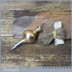 Vintage No: 0 Steel Tipped Brass Plumb Bob - Good Condition