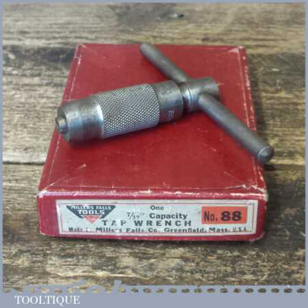 Vintage Boxed Millers Falls Co USA No: 88 Tap Wrench - Good Condition