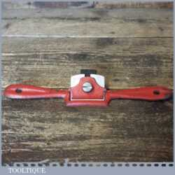 Vintage Record No: A64 Flat Soled Metal Spokeshave - Ready To Use