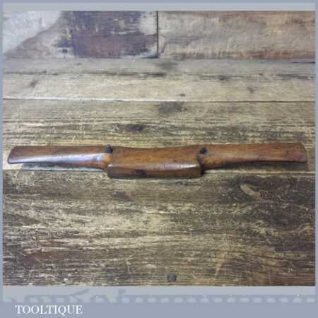 """Vintage Beechwood Spokeshave With Brass Sole 3"""" Cutter - Good Condition"""