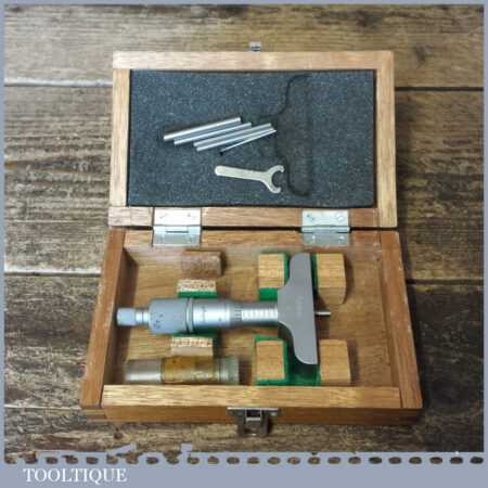 Vintage Boxed Mitutoyo Depth Micrometer - Good Condition