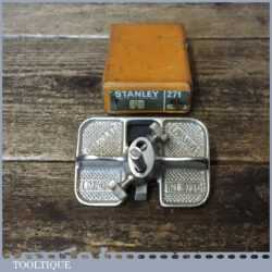 Vintage Boxed Stanley England No: 271 Router Plane - Good Condition