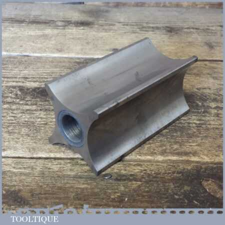 """Interesting Vintage Engineers 4"""" Rounded Steel Block - Good Condition"""
