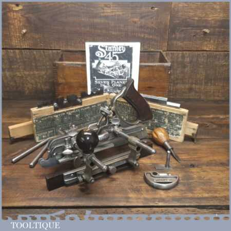 Vintage Boxed Stanley USA No: 45 Combination Plough Plane - Fully Refurbished