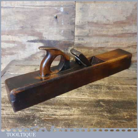 """Vintage Moseley & Son Carpenter's 22"""" Beechwood Trying Plane - Lapped Flat"""