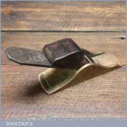 Nice Antique Gunmetal Thumb Plane Rosewood Wedge - Good Condition