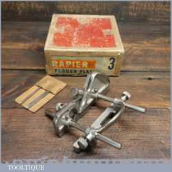 Vintage Boxed Rapier No: 3 Plough Plane With Three Cutters - Good Condition