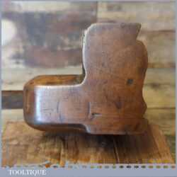 Delightful Large 18th C Antique Complex Beechwood Moulding Plane - Excellent Condition