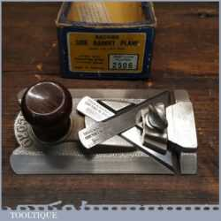 Vintage Partially Boxed Record No: 2506 Side Rabbet Plane - Refurbished Ready To Use