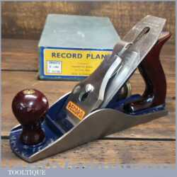 Near Mint Vintage Boxed Record No: 04 Smoothing Plane 1952-58 Little Used