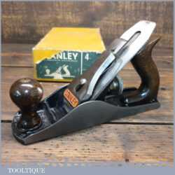 Vintage Boxed Stanley England No: 4 Smoothing Plane - Little Used Fully Refurbished