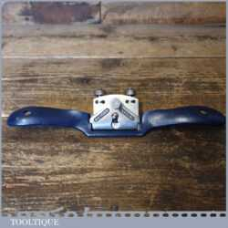 Vintage Record No: 0151R Adjustable Curved Sole Metal Spokeshave - Fully Refurbished
