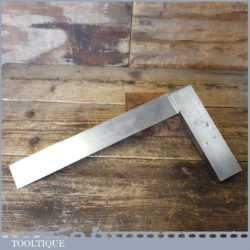 "Vintage Moore & Wright Engineer's 12"" Precision Set Square - Broad Arrow 1946"