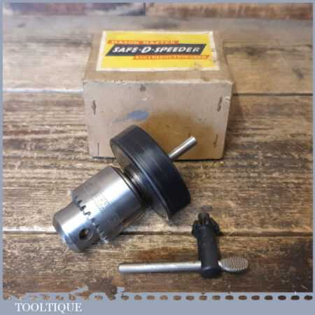 Vintage Boxed Mason Master 4 to 1 Reduction Gear Drill Chuck - Good Condition