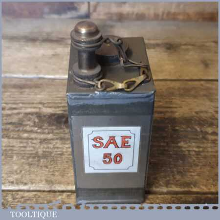 Scarce Vintage WWI SAE 50 Army Military Gunner's Oil Can - Crowsfoot Broad Arrow