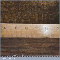 """Unusual Antique 24"""" Beechwood Contraction Ruler For Brass - Good Condition"""