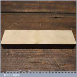 """Vintage 6"""" x 1 ½"""" Natural Coticule Honing Oilstone - Lapped Flat"""