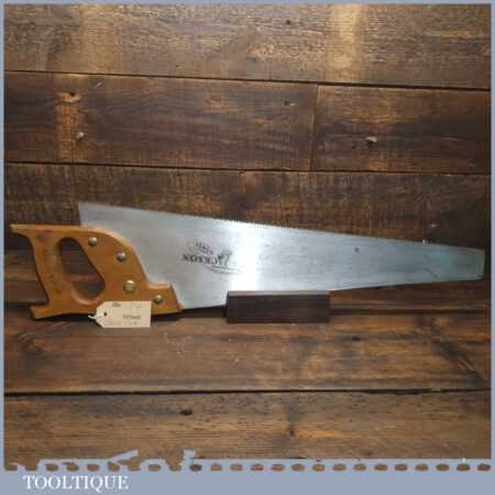 "Vintage Spear & Jackson 22"" Cross Cut Panel Handsaw 7 TPI - Fully Refurbished Sharpened"